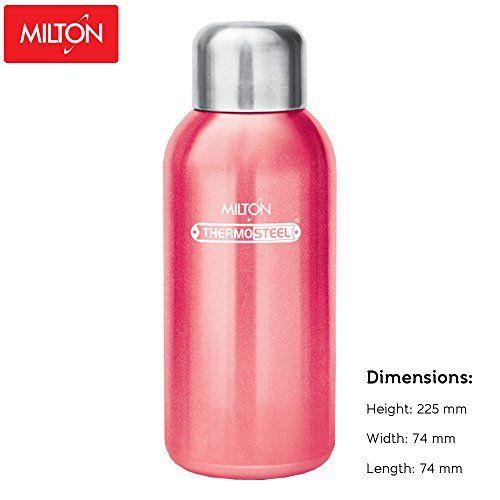 Milton Glory Stainless Steel Water Bottle, 570ml, Pink