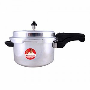 Wonderchef Outer Lid Aluminium Ultima Pressure Cooker, 5 litres, Silver