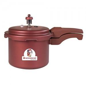 Wonderchef Health Guard Aluminium Pressure Cooker, 3 litres, Maroon