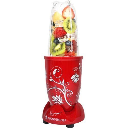 Wonderchef Nutri-Blend 400 W Juicer Mixer Grinder(Red, 2 Jars)