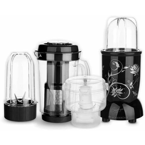 Wonderchef Nutri-blend CKM Black 400 W Juicer Mixer Grinder(Black, 3 Jars)