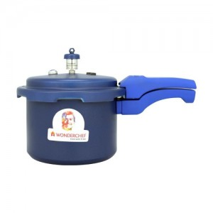 Wonderchef Health Guard Aluminium Pressure Cooker, 3 litres, Blue