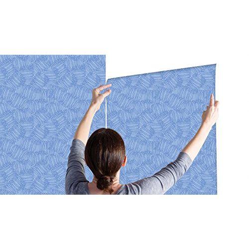100yellow Blue Pattern Self Adhesive Peel & Stick Waterproof Wallpaper-44 Sqft