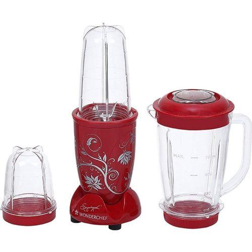 Wonderchef Presents Nutri-Blend 400-Watt Mixer Grinder with 3 Jars (Red) 400 W Juicer Mixer Grinder(Red, 3 Jars)
