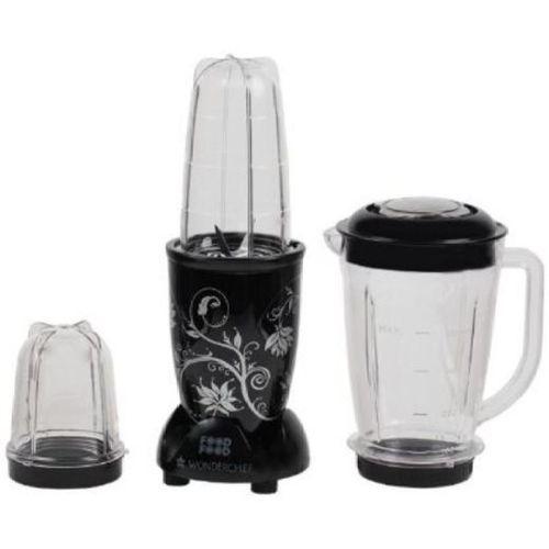 Wonderchef NUTRIBLEND WITH JAR 400 W Mixer Grinder(Black, 3 Jars)