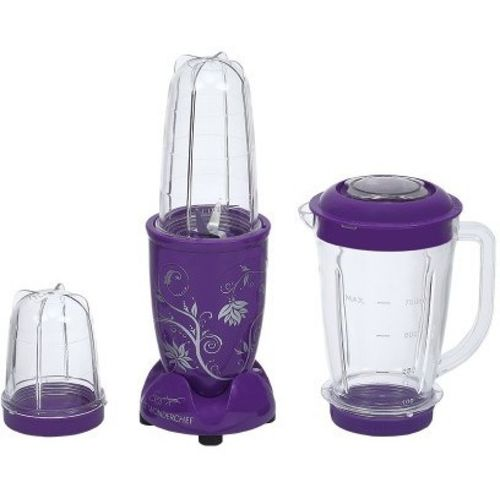 Wonderchef Nutri-blend Purple with Jar 400 W Juicer Mixer Grinder(Purple, 3 Jars)