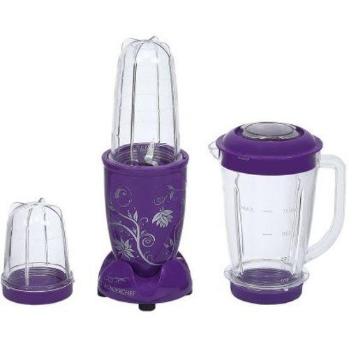 Wonderchef Nutri-blend Purple with Jar 400 W Juicer Mixer Grinder(Purple, 3 Jars)