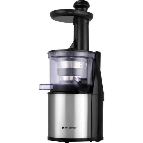Wonderchef cold press juicer compact 200 W Juicer(Silver and Black, 2 Jars)