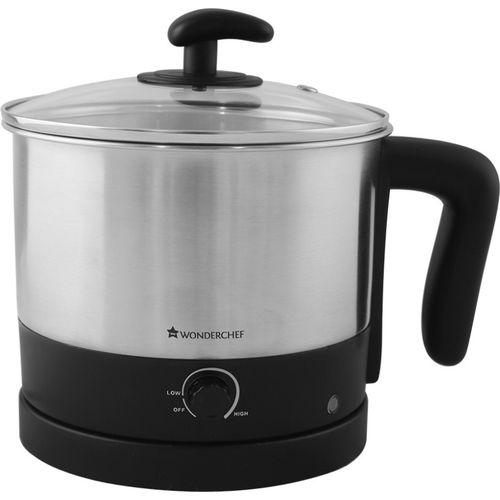 Wonderchef Multi-cook 1.2L Electric Kettle(1.2, Black & Silver)