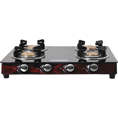 Wonderchef Wonderchef Zing 4 Burner Glass Cooktop Glass Manual Gas Stove(4 Burners)