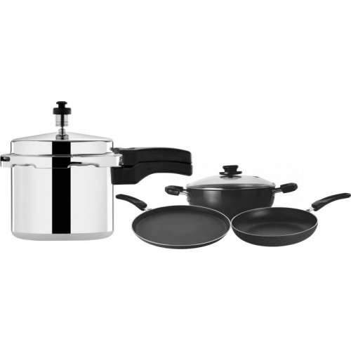 Leo Natura Cookware Set(Aluminium, 4 - Piece)