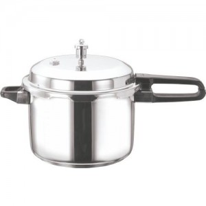 Vinod Cookware Induction Friendly Stainless Steel Sandwich Bottom Pressure Cooker, 2 litres