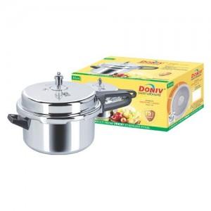 VINOD - DONIV Aluminium Outer LID Pressure Cooker (5 Ltrs)
