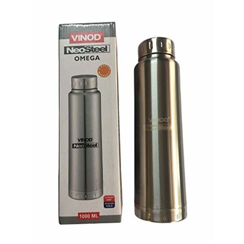Vinod Inside Stainless Steel Water Bottle - for Office and Home (Silver,1000ML)
