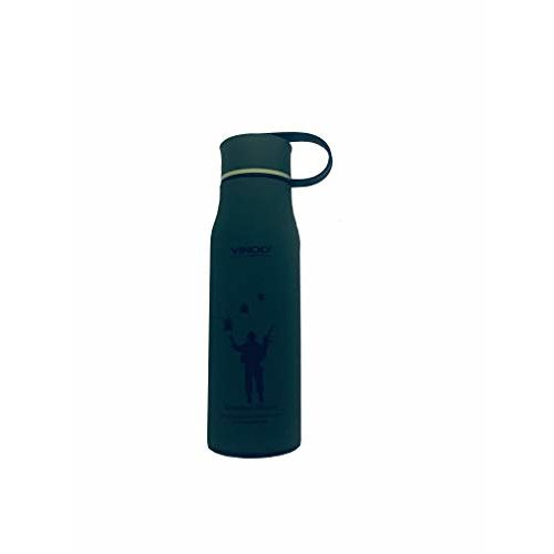 Vinod Inside Stainless Steel Water Bottle for Office and Home (Green,520ML)