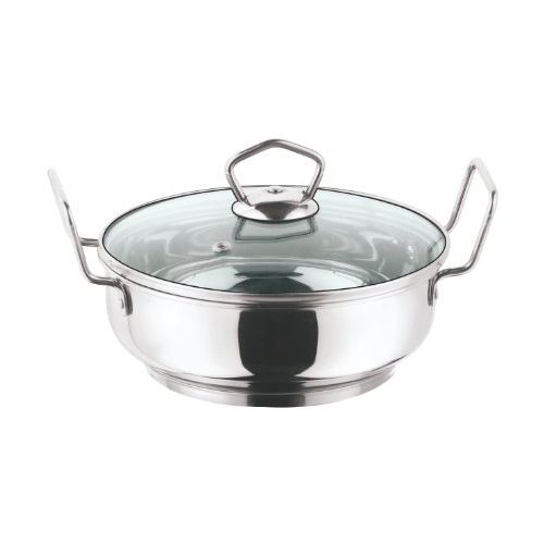 Vinod Cookware Induction friendly Kadai with Lid, 3 Litres