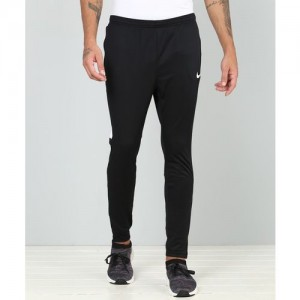 Nike Black Polyester Solid Track Pants