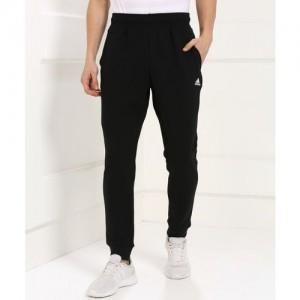 ADIDAS Solid Men Black Track Pants