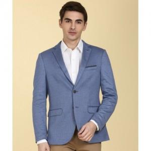 Arrow New York Self Design Single Breasted Formal Men's Blazer(Blue)