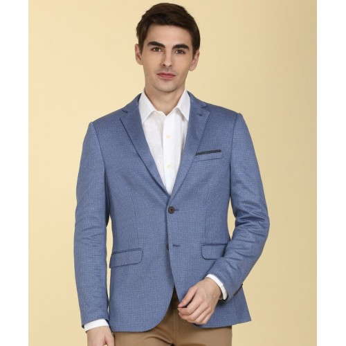 Arrow New York Self Design Single Breasted Formal Men's Blazer(Blue)