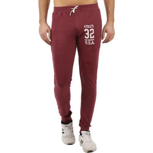 Checkersbay Solid Men's Red Track Pants