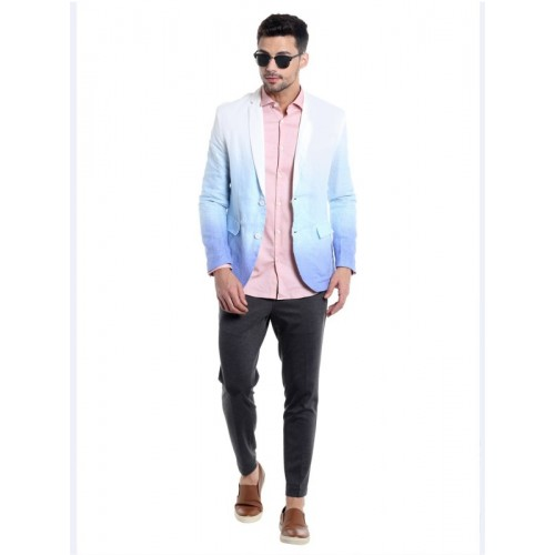 Jack & Jones Solid Single Breasted Casual Men's Blazer(Multicolor)