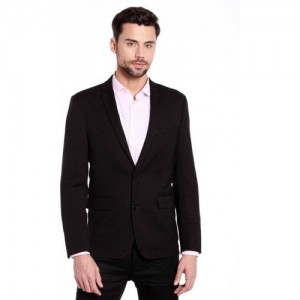 Jack & Jones Polka Print Single Breasted Casual Men's Blazer(Black)