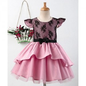50065333bfe7 Buy Sunny Baby Pink Cotton Floral Embroidered Sleeveless Dress ...