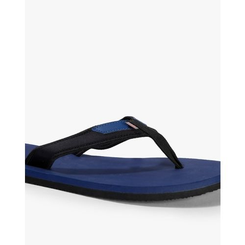 ADIDAS Men Black & Navy Rio Attack 2 Solid Thong Flip-Flops