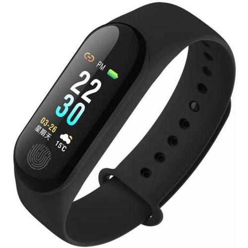 Zeom Waterproof Smart Bracelet(Black/01)(Black Strap, Size : Free Size)