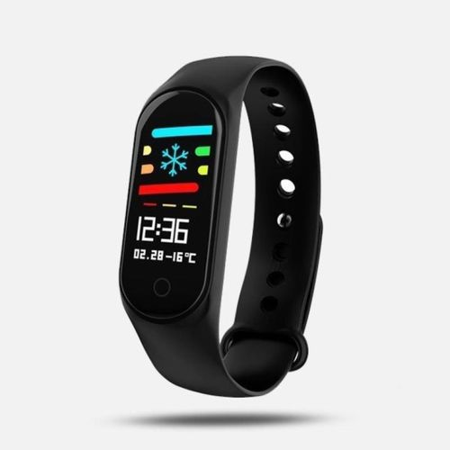 Lens L3-01 Fitness Smart Band(Black Strap, Size : Free size)
