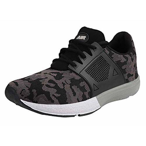 Chevit Men's 448 Sports Shoes (Running & Walking Shoes) 448-6 Black