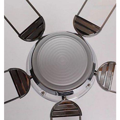 Usha Aerolux 1320mm 62-Watt Ceiling Fan with Remote - Cassian (Transparent)