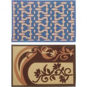 BIANCA Nylon Door Mat(Blue, Brown, Gold, Medium)