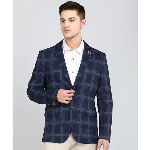 Arrow Sport Checkered Single Breasted Casual Men's Blazer(Blue)