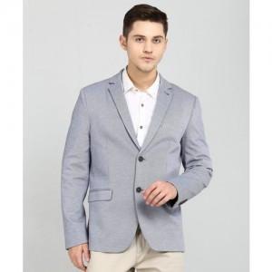 Arrow Self Design Single Breasted Formal Men's Blazer(Grey)