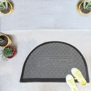 Bombay Dyeing PVC Door Mat(Grey, Extra Large)