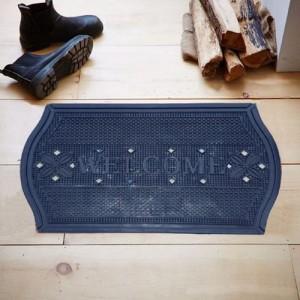 Kuber Industries Plastic Door Mat(Blue, Free)