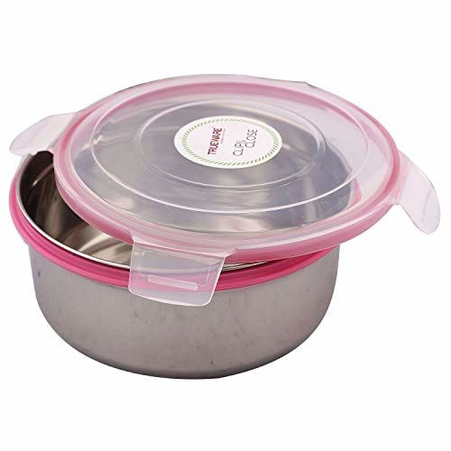 Kuber Industries Plastic 2 Piece Big & Small Size Multipurpose Container (Pink & Blue)-CTKTC3634,