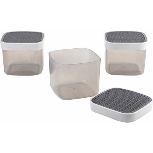 Kuber Industries Exclusive 9 Pcs Multi-Purpose Storage Container Set (Gray)-KSKTC1943