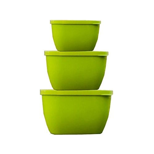 Kuber Industries Designer Multi Storage Kitchen Containers Set of 3 Plastic Containers for Kitchen and Multipurpose Use (Large+Medium+Small) - Assorted Colors