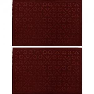 Kuber Industries Microfiber Door Mat(Multicolor, Medium)