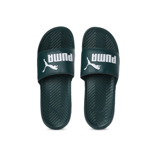Puma Green Popcat Printed Sliders