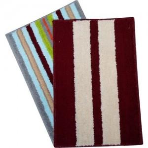 Shreejee Microfiber Door Mat(Multicolor, Medium)