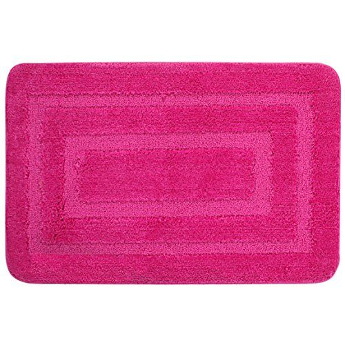 Lushomes Ultra Soft Microfiber Polyester Pink Large Bath Mat