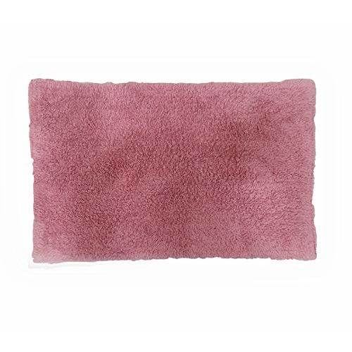Avira Home Essential Cotton Bathmat Set for Home Kitchen Bathroom Machine Washable 1100 GSM (Pink)