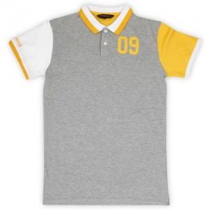 Provogue Grey Cotton Boy's Solid Cotton Polo T-Shirt