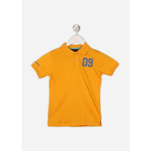 Provogue Boy's Solid Cotton T Shirt(Yellow, Pack of 1)