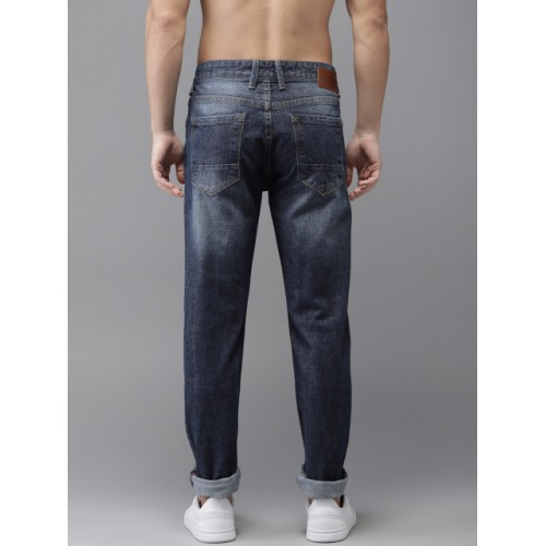 HERE&NOW Blue Cotton Slim Fit Mid-Rise Clean Look Jeans