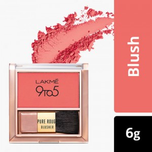 LAKME 9 To 5 Pure Rouge Blusher, Coral Punch, 6 g
